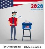 presidential elections 2020... | Shutterstock .eps vector #1822761281