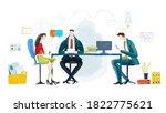digital illustration  business... | Shutterstock . vector #1822775621