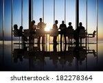 business people working in a... | Shutterstock . vector #182278364
