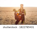 Woman Carrying Basket With...