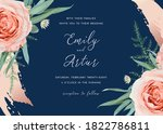 wedding invite save the date... | Shutterstock .eps vector #1822786811