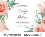 wedding invite save the date... | Shutterstock .eps vector #1822786814