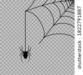 spider web corner illustration... | Shutterstock .eps vector #1822791887