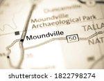 Moundville. Alabama. USA on a map