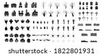set of silhouettes of halloween....   Shutterstock .eps vector #1822801931