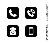 pack of phone icon symbol... | Shutterstock .eps vector #1822802594