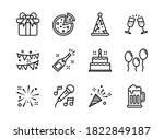 party icon set outline style....   Shutterstock .eps vector #1822849187