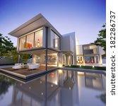 external view of a contemporary ... | Shutterstock . vector #182286737