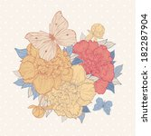 vector vintage background with...   Shutterstock .eps vector #182287904