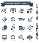 seo search engine vector icon... | Shutterstock .eps vector #1822880144