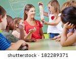 children in musical education... | Shutterstock . vector #182289371
