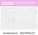 set of 2000 high quality thin... | Shutterstock .eps vector #1822906127