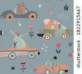 cute vector seamless pattern... | Shutterstock .eps vector #1822915667