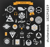 hipster style elements and... | Shutterstock .eps vector #182291819