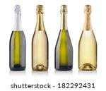 set of champagne bottles.... | Shutterstock . vector #182292431