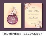 vintage  cherry blossom flowers ... | Shutterstock .eps vector #1822933937