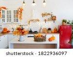 Autumn Kitchen Interior With...