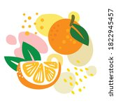 orange on abstract summer... | Shutterstock .eps vector #1822945457