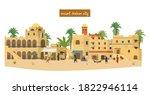 vector illustration of ancient... | Shutterstock .eps vector #1822946114