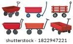 Garden Wagon Cartoon Vector...