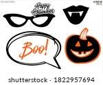 cartoon halloween photo booth... | Shutterstock .eps vector #1822957694