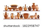 different ancient greek ceramic ...   Shutterstock .eps vector #1822958747