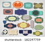 set retro vintage ribbons and... | Shutterstock .eps vector #182297759