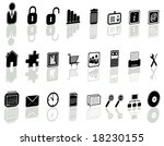 illustration of icons set with... | Shutterstock .eps vector #18230155