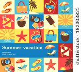 summer vacation design template ... | Shutterstock .eps vector #182303825