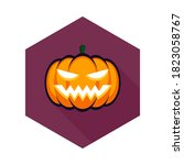 halloween pumpkin  scary or... | Shutterstock .eps vector #1823058767