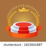 empty winner podium. champion... | Shutterstock . vector #1823061887
