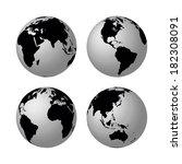globes   Shutterstock . vector #182308091