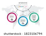 circles label infographic with... | Shutterstock .eps vector #1823106794