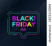black friday poster design.... | Shutterstock .eps vector #1823110004