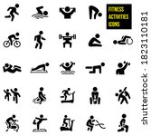 Fitness Activities Icons Stock...