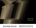 abstract halftone lines gold... | Shutterstock .eps vector #1823113151