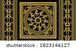seamless border with golden... | Shutterstock .eps vector #1823146127