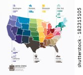 united states map infographic... | Shutterstock .eps vector #182315105