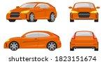 hatchback car in different... | Shutterstock .eps vector #1823151674