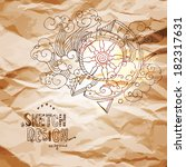 vector abstract fairy compass... | Shutterstock .eps vector #182317631