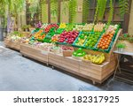 Fresh Fruits Shop At A Market