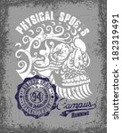 physical sports and skull... | Shutterstock .eps vector #182319491