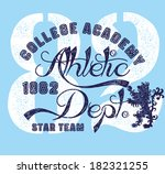 college lion team  vector art | Shutterstock .eps vector #182321255