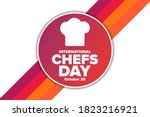 international chefs day.... | Shutterstock .eps vector #1823216921