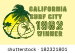 california pacific surfer... | Shutterstock .eps vector #182321801
