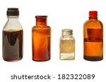 four vintage medicine bottles... | Shutterstock . vector #182322089