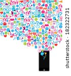 template design phone idea with ... | Shutterstock .eps vector #182322731