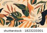 modern bright exotic jungle... | Shutterstock .eps vector #1823233301