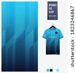 stripe pattern on blue gradient ... | Shutterstock .eps vector #1823246867
