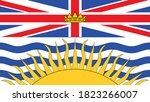 flag  of the canadian province of British Columbia vector illustration